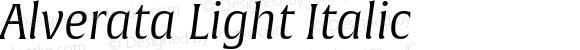 Alverata Light Italic Version 1.001