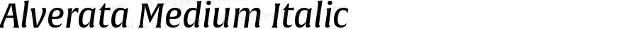 Alverata Medium Italic Version 1.001