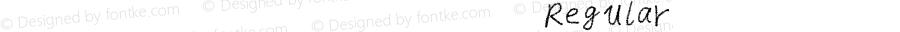 我字酷紫游腊笔英文手写 Regular Ver1.0 2017.10.19 本字库在woziku.com在线手书创建,版权归