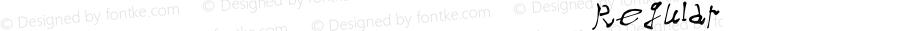 我字酷不守大蜀木英文字体 Regular Ver1.0 2017.10.20 本字库在woziku.com在线手书创建,版权归