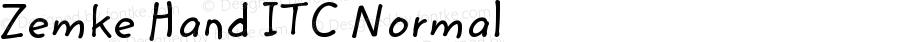 Zemke Hand ITC Normal Version 001.001
