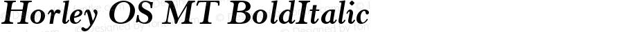 Horley OS MT BoldItalic Version 001.003