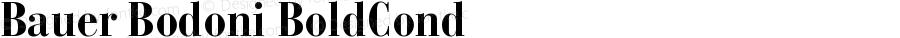 Bauer Bodoni CE Bold Cond