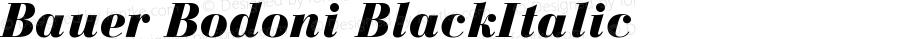 Bauer Bodoni CE Black Italic