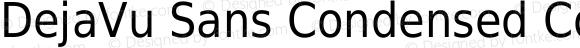 DejaVu Sans Condensed Condensed