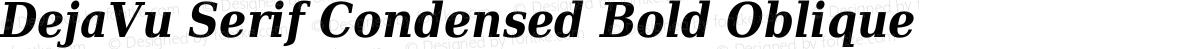 DejaVu Serif Condensed Bold Oblique