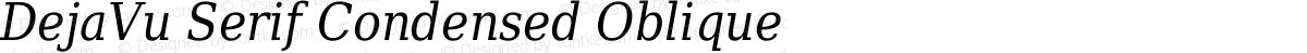 DejaVu Serif Condensed Oblique