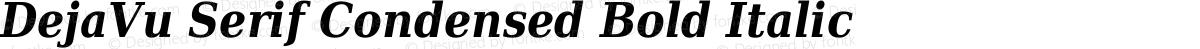 DejaVu Serif Condensed Bold Italic