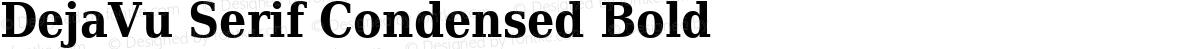DejaVu Serif Condensed Bold