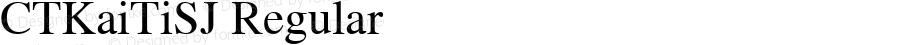 CTKaiTiSJ Regular Version 1.00 October 23, 2016, initial release