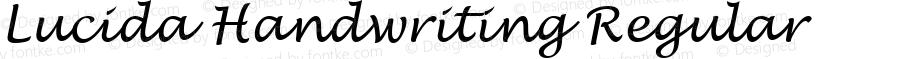 Lucida Handwriting Regular Version 1.003 December 17, 2016