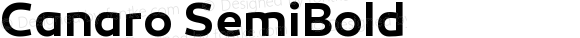 Canaro SemiBold Version 1.000