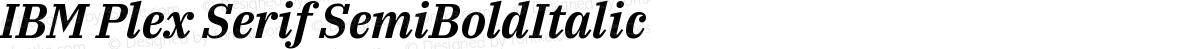 IBM Plex Serif SemiBoldItalic