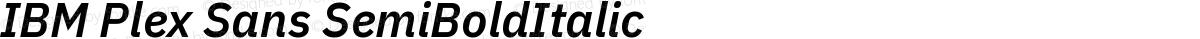 IBM Plex Sans SemiBoldItalic