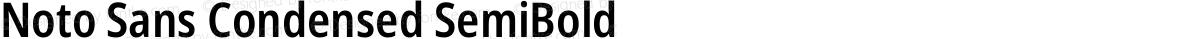 Noto Sans Condensed SemiBold