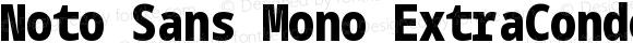 Noto Sans Mono ExtraCondensed Black