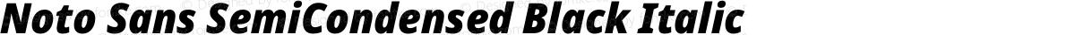Noto Sans SemiCondensed Black Italic