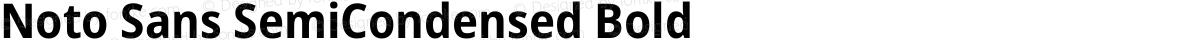 Noto Sans SemiCondensed Bold
