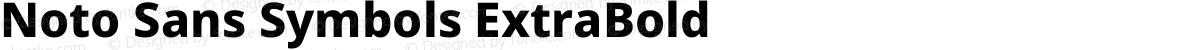 Noto Sans Symbols ExtraBold