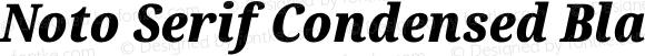 Noto Serif Condensed Black Italic