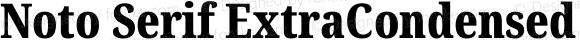 Noto Serif ExtraCondensed Black