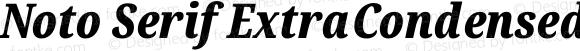 Noto Serif ExtraCondensed Black Italic