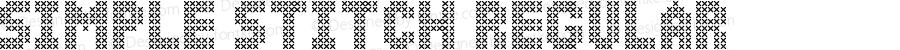 Simple Stitch Regular Version 1.00;February 7, 2018;FontCreator 11.0.0.2388 64-bit