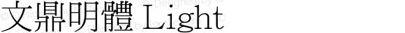 文鼎明體 Light Version 1.00