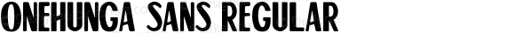 Onehunga Sans