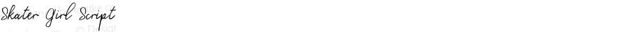 Skater Girl Script Version 1.000;PS 001.000;hotconv 1.0.88;makeotf.lib2.5.64775