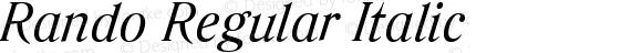Rando Regular Italic