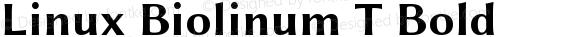 Linux Biolinum T