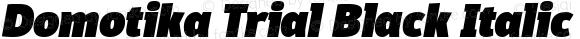 Domotika Trial Black Italic