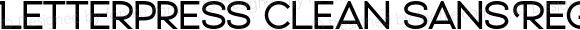 Letterpress Clean Sans Regular Version 1.000