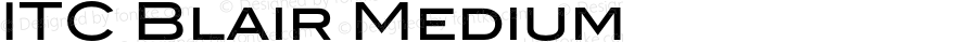 ITC Blair Medium Version 1.91