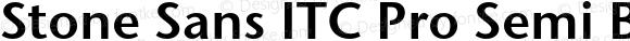 Stone Sans ITC Pro Semi Bold