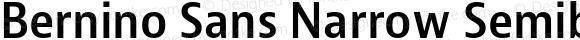 Bernino Sans Narrow Semibold