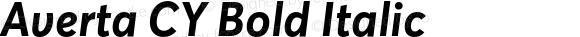 Averta CY Bold Italic