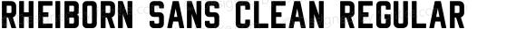 Rheiborn Sans Clean Regular Version 001.000