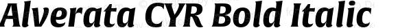 Alverata CYR Bold Italic Version 1.001