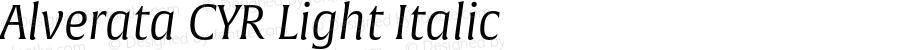 Alverata CYR Light Italic Version 1.001
