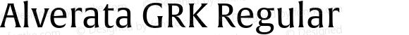 Alverata GRK Regular Version 1.001