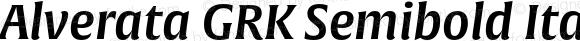 Alverata GRK Semibold Italic Version 1.001
