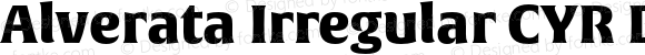 Alverata Irregular CYR Black Version 1.001