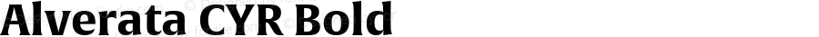 Alverata CYR Bold Version 1.001