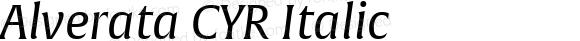 Alverata CYR Italic Version 1.001
