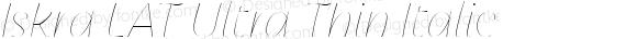 Iskra LAT Ultra Thin Italic