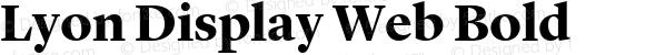 Lyon Display Web Bold Version 001.000 2010