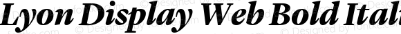 Lyon Display Web Bold Italic Version 001.000 2010