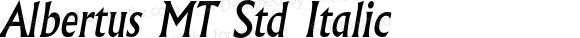 AlbertusMTStd-Italic